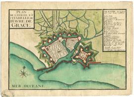 Plan de la Ville et Citadelle du Havre de Grace - Vers 1701