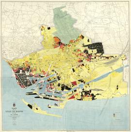 Plan des destructions de la ville du Havre - 1944