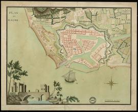 Plan du Havre - Années 1820.