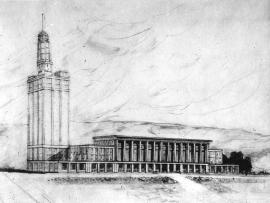 Projet pour l'hôtel de ville, 1952