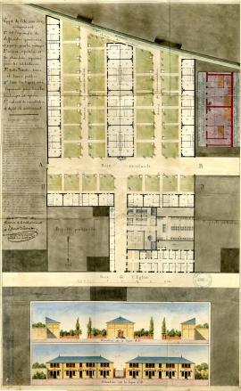 Plan de la cité idéale de Morlent et Brunet