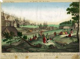 Le port du Havre - Vue de la citadelle sur le bastion du Roi