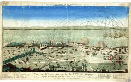 Vue du bombardement de la ville du Havre