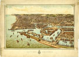 Ville du Havre -Seine-Inférieure - 1888 [vue en ballon