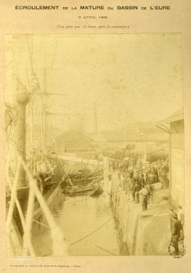 Ecroulement de la mâture du bassin de Leure (2) - 8 avril 1892