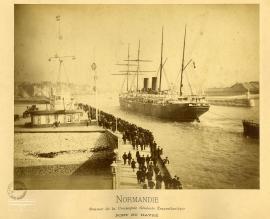 Normandie. Steamer de la Compagne générale transatlantique. Port du Havre