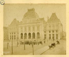 Le Havre. La Bourse, façade septentrionale