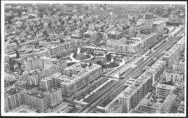 Vue aérienne au nord de l'avenue Foch