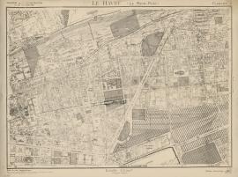 Le Havre. Plan topographique, 1946. Planche n°6, quartier du Rond-point. (17/08, modifié le 15/10/1946)