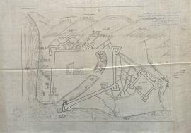 """Plan dit """"Warwick"""" pendant le siège du Havre, 15 juillet 1563."""