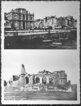 Le Havre. Le musée, l'entrée de la rue de Paris