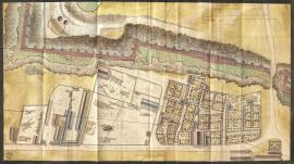 Plan des terrains situés sur le Perrey