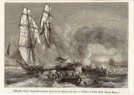 -Bâtiment négrier fuyant les croiseurs et jetant ses esclaves à la mer (inv. 71.371, MAH)