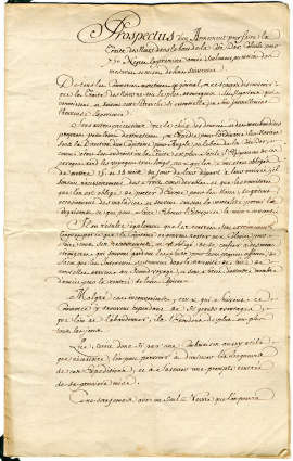Prospectus d'un armenent pour faire la traite des Noirs (Ms1259)