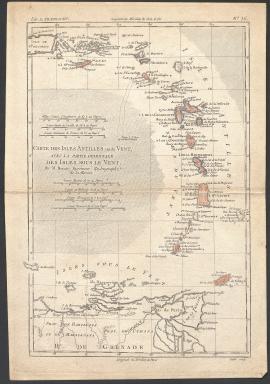 Carte des iles Antilles (1Fi352)