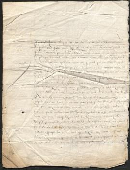 lettre de Jean Le Vasseur, gouverneur de l'île de la Tortue à Isaac Boivin (1646). 49Z6.