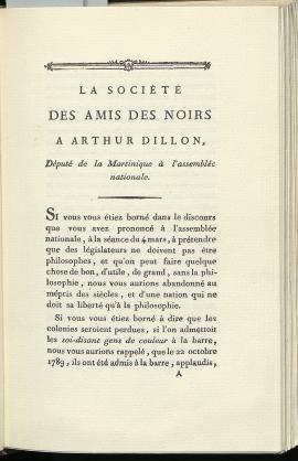 -Lettre de la Société des Amis des Noirs aux auteurs de la Décade philosophique, 80710 (BMH).