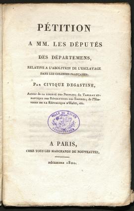 -Pétition à MM. les députés des départements relative à l'abolition de l'esclavage dans les colonies françaises, Ch2276 (BMH)