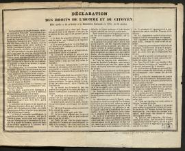-Déclaration des droits de l'Homme et du Citoyen de 1793, CH2979 (BMH).