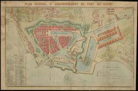 Plan général d'agrandissement du port du Havre - 1844