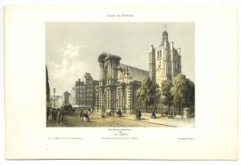 Vue de la rue de Paris et de l'Eglise (5Fi99)