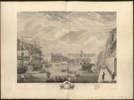 Carenne d'un navire dans le Bassin du Havre en présence du Roy, le 20 septembre 1749.