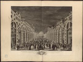 Illumination de la Grande rue de la ville du Havre de Grace et d'un vaisseau à l'entrée du port pour terminer la perspective, les 19 et 20 septembre 1749.