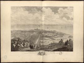 Le Roy sur la hauteur d'Ingouville, d'où sa Majesté observe le beau point de vue de la Ville du Havre de Grace, le 20 septembre 1749.