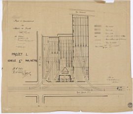 Projet d'agrandissement du dépôt de Graville, 1928 (2Fi104)