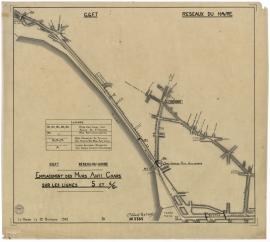 2Fi415, Emplacement des murs anti-chars sur les lignes 5 et 4/6, 1942